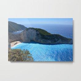 Tropical Greek Island Metal Print