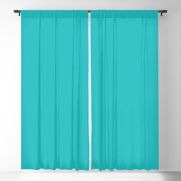 DPCSD Dark cyan color Blackout Curtain