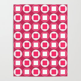 Strawberry Contemporary Bead Pattern Poster