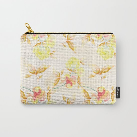 Delicate Floral Pattern 06 Carry-All Pouch