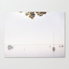 Swan River  Green Canvas Print