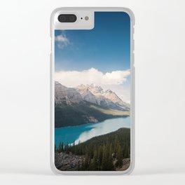 Une journée dans les rocheuses Clear iPhone Case