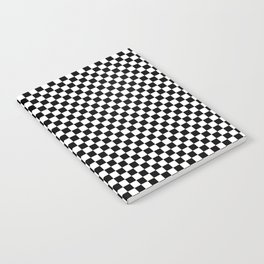 Black White Checks Minimalist Notebook
