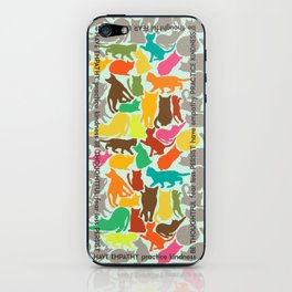 Cats giving advice iPhone Skin