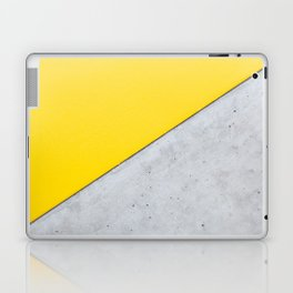 Yellow & Gray Abstract Background Laptop & iPad Skin