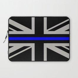 Police: British Flag & The Thin Blue Line Laptop Sleeve