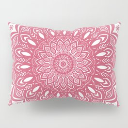 Red Wine Color Mandala Minimal Minimalistic Simple (Yet Bold) Pillow Sham