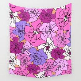 Summer Peony Garden Wall Tapestry