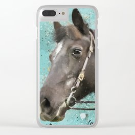 Roxy Horse Clear iPhone Case