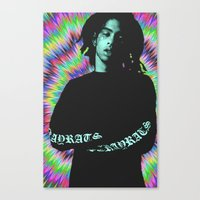 tye dye Canvas Prints featuring Rob Tye Dye  by POSH OUTSIDERS
