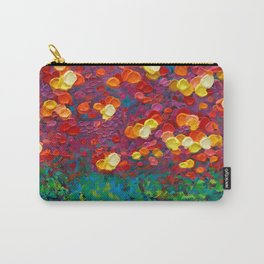 Rainbow Bubbles teardrop rain abstract painting iPhone 4 4s 5 5c 6 7, pillow case, mugs and tshirt Carry-All Pouch