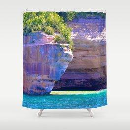 Michigan's_Pictured_Rocks Shower Curtain
