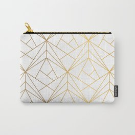 Golden Diagonal lines Pattern Carry-All Pouch