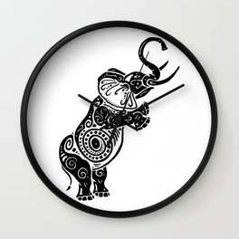 Jeweled Elephant Wall Clock