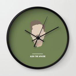ALDO THE APACHE (Inglourious Basterds) Wall Clock