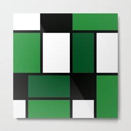 Green Mondrian Metal Print