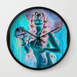 Day of the dead/ muertos pin up senorita Wall Clock