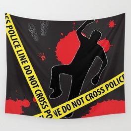 Crime Scene Design (Police Line Do Not Cross) Wall Tapestry