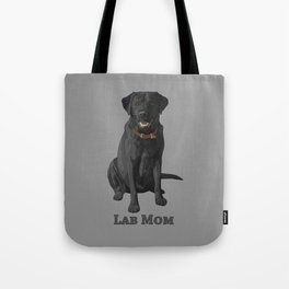 Dog Mom Black Labrador Retriever Tote Bag