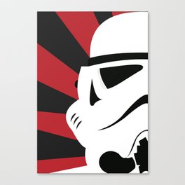 Storm Trooper Portrait Canvas Print