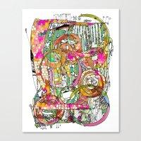 artsy Canvas Prints featuring Artsy Lines by Ingrid Padilla