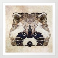 racoon Art Prints featuring Racoon by Ancello
