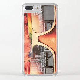 Retro Girl Clear iPhone Case