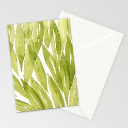 Olive tree leaves pattern in watercolor Stationery Cards