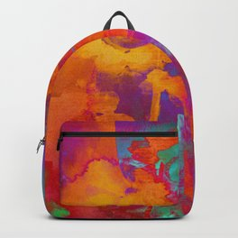 bright abstract bouquet Backpack