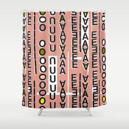 Vowels pink Shower Curtain
