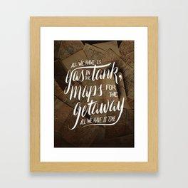maps for the getaway Framed Art Print
