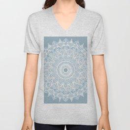 The Sunflower (gray-bue) Unisex V-Neck