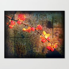 Fields Of Red Berries In The Evening Canvas Print