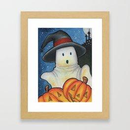 Spooky Pumpkins Framed Art Print