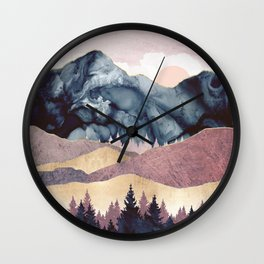 Mauve Vista Wall Clock