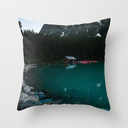 Wade into the Waters Throw Pillow