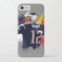 patriots iPhone & iPod Cases featuring Tom Brady by J Maldonado