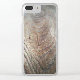 Wood Grain Clear iPhone Case