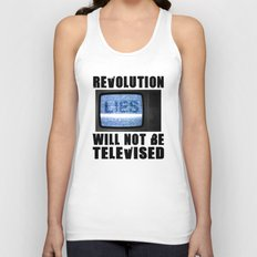 Revolution will not be televised Unisex Tank Top