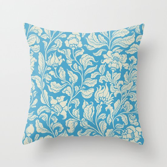 neo ethnic cerulean Throw Pillow