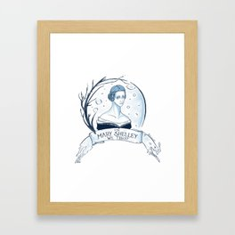 In Mary Shelley We Trust Framed Art Print