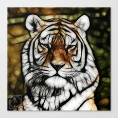Painted Tiger Canvas Print