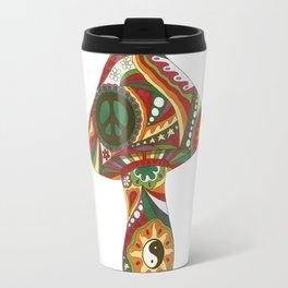 Vintage Psychedelic Mushroom Travel Mug