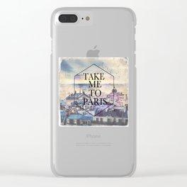 The Paris Clear iPhone Case