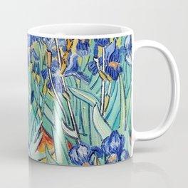 Irises Painting by Vincent van Gogh Coffee Mug