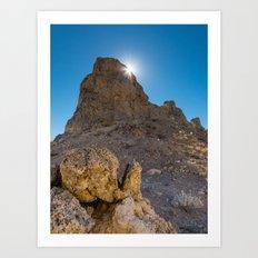 Sunburst Over Trona Pinnacles Art Print