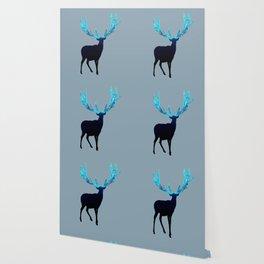 Greenery Deer - Sterling Magenta Wallpaper