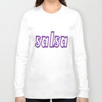 puerto rico Long Sleeve T-shirts featuring Salsa Puerto Rico by Salsa Republic