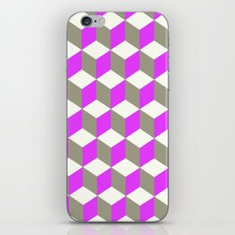 Diamond Repeating Pattern In Ultra Violet Purple and Grey iPhone Skin