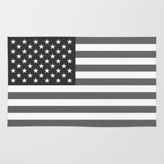 National flag of the USA, B&W version Rug